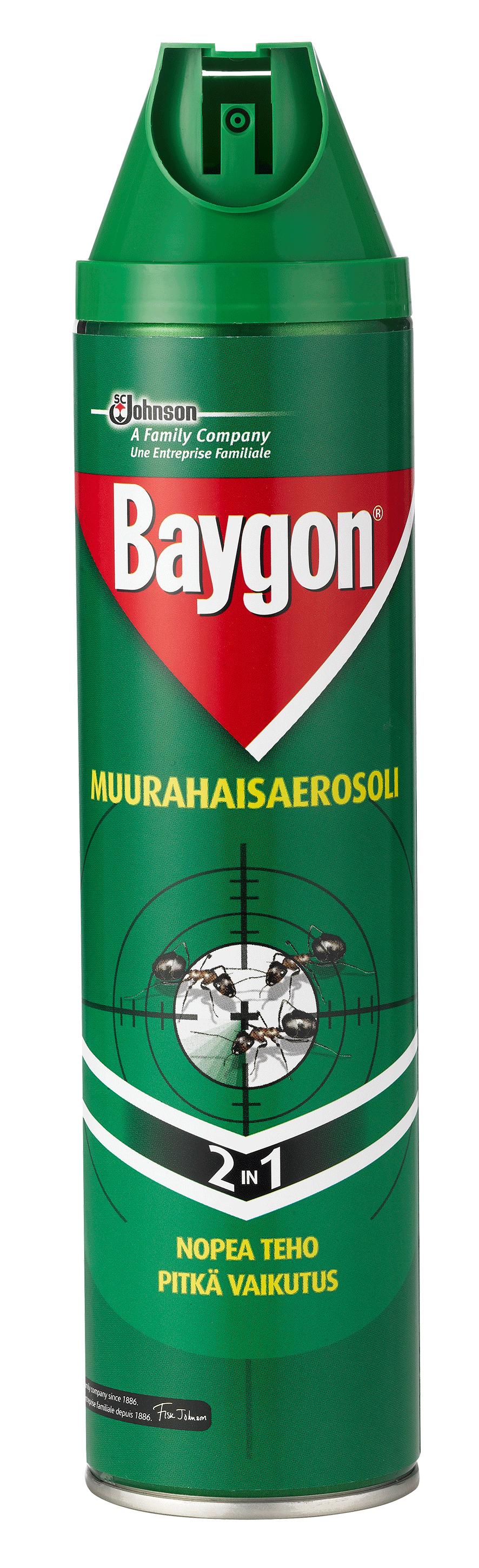 Muurahaisaerosoli Baygon